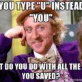 Willy Wonka saved time